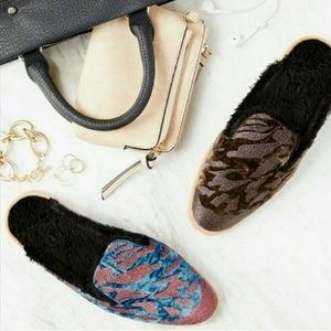 Free People Embroidered Mules 36 & 37 NWT